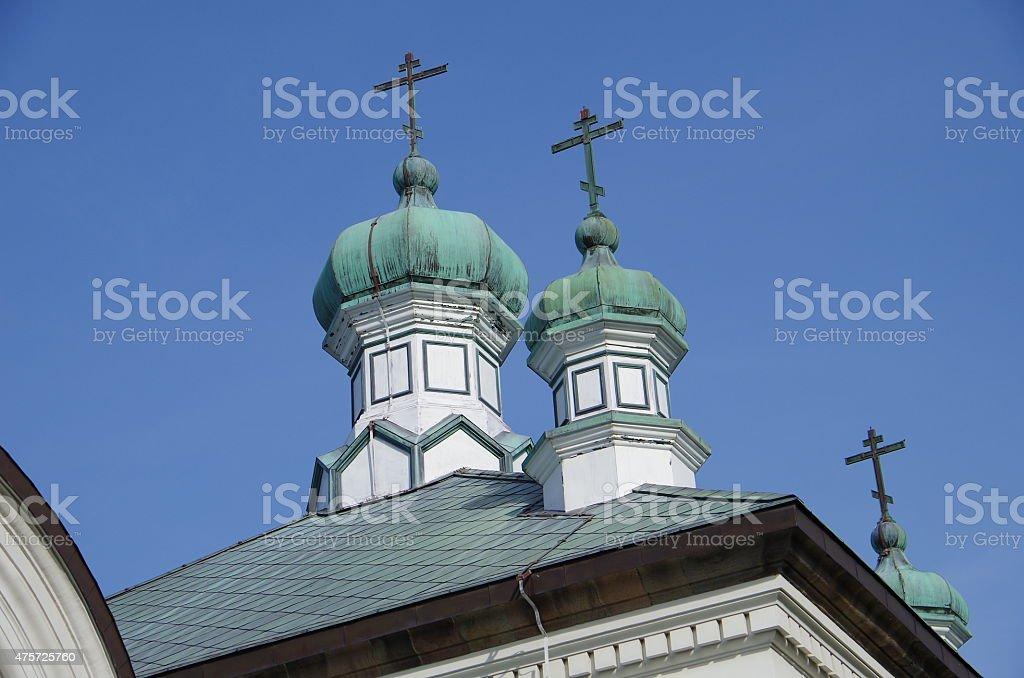 Rusia, gran iglesia ortodoxa catedral de Hakodate foto de stock libre de derechos