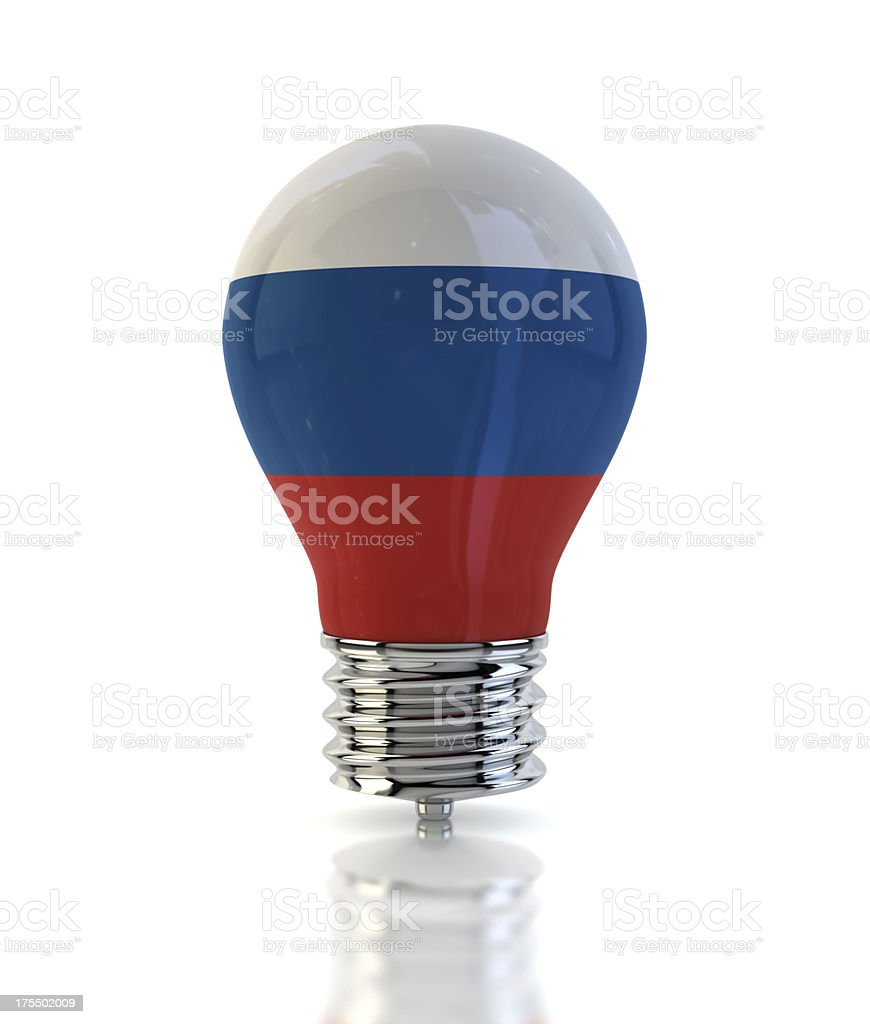 Russia Light Bulb royalty-free stock photo