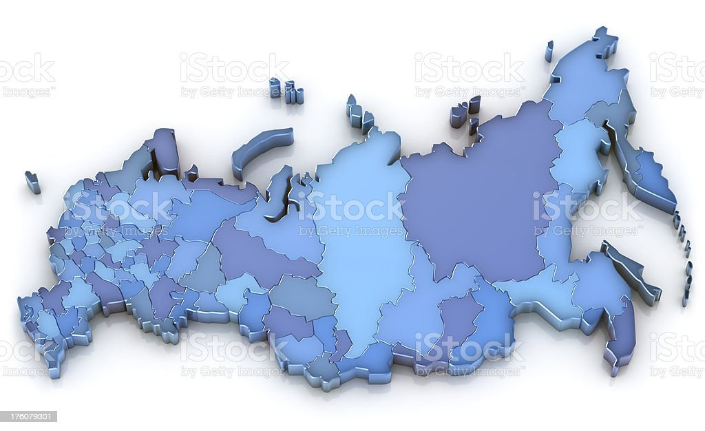 Russia map stock photo