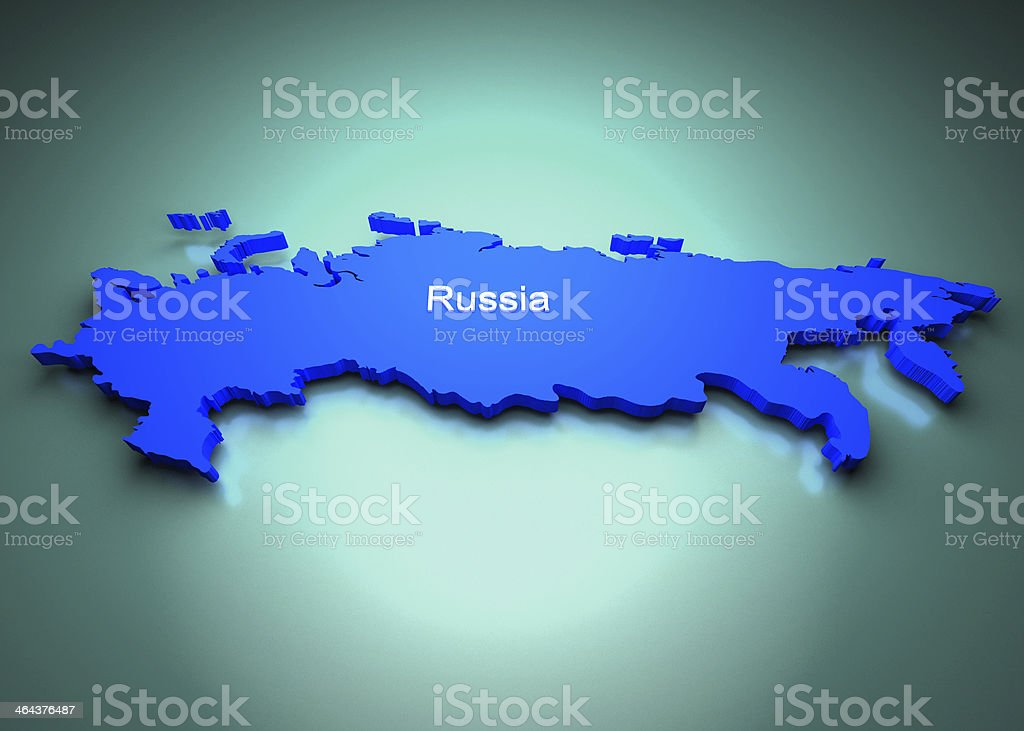 Russia Map royalty-free stock photo
