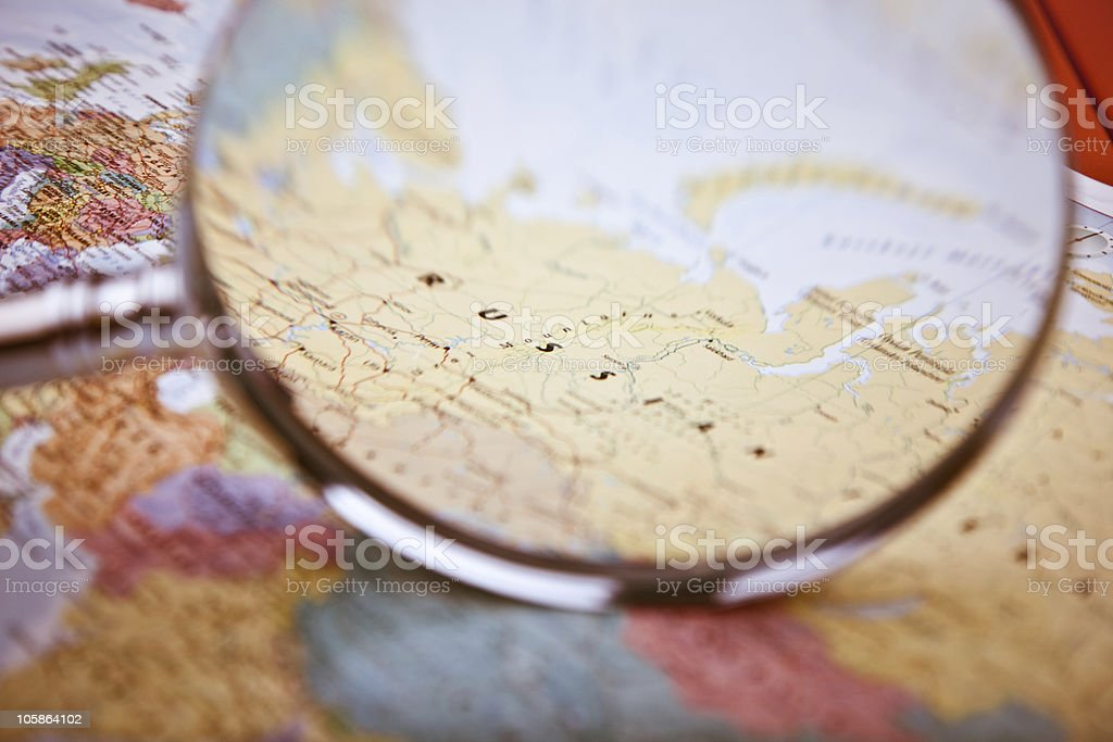 Russia Map, selective focus royalty-free stock photo