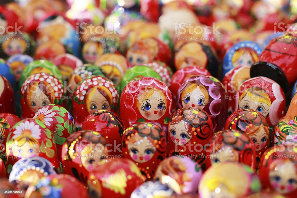 Russia, Moscow gift shop royalty-free stock photo