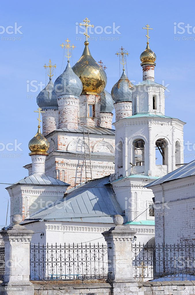 Russia. Moscow region. Classical orthodox Kazanskaya church. stock photo