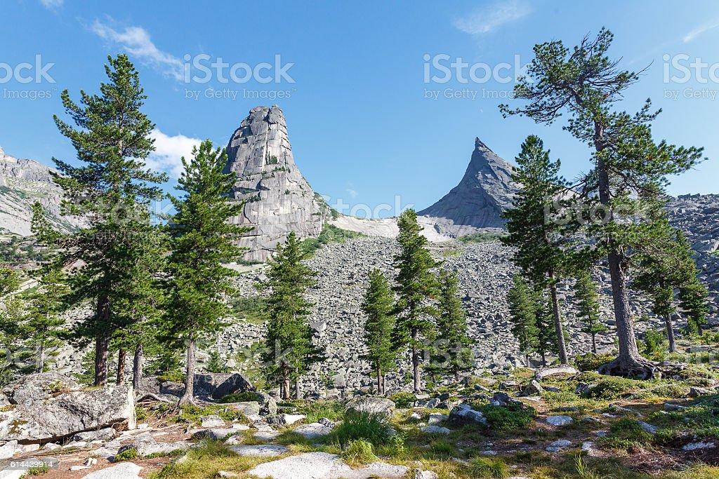 Russia. Natural park of Ergaki. Parabola. stock photo