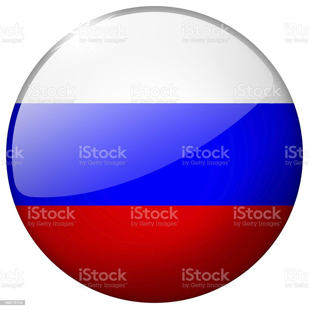 Russia Round Glass Button stock photo