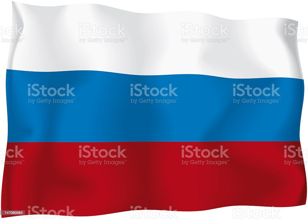 Russia - Russian flag stock photo