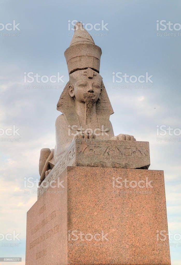 Russia, Saint-Petersburg, granite sphinxes stock photo