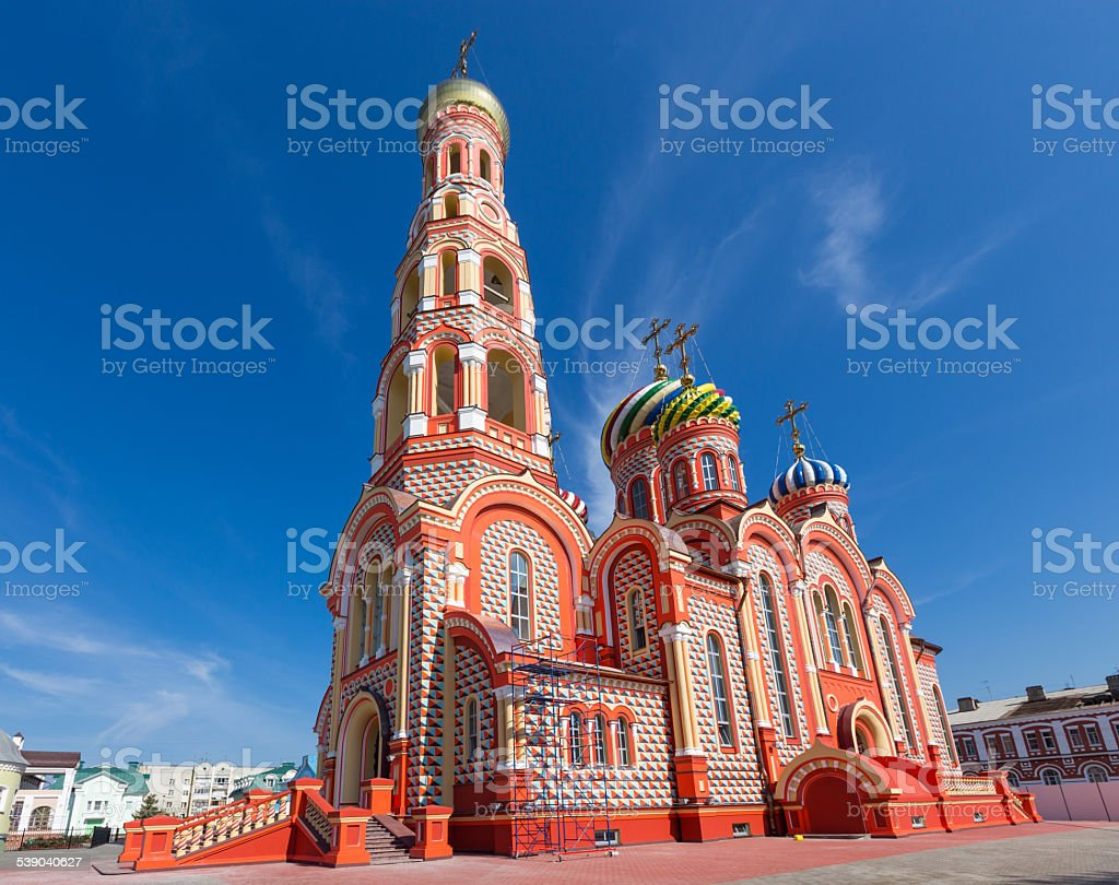 Russia. Tambov. Cathedral of the Ascension in Monaster stock photo
