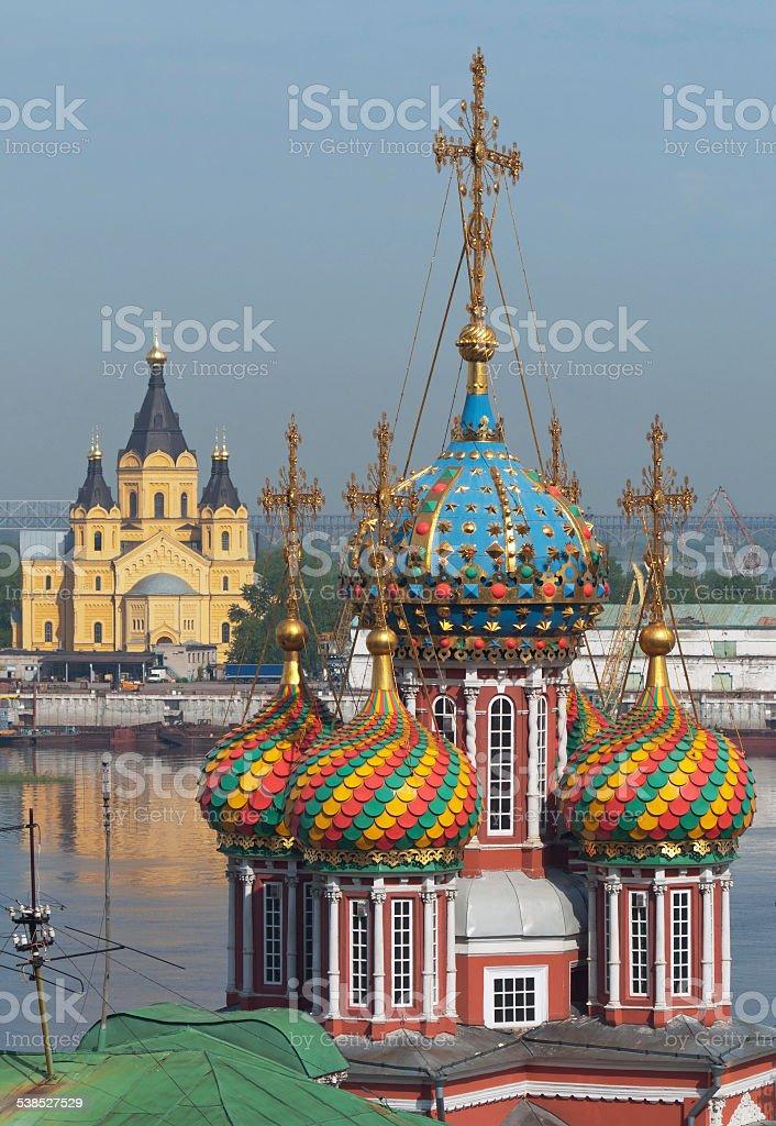 Russia. Temples of Nizhny Novgorod stock photo