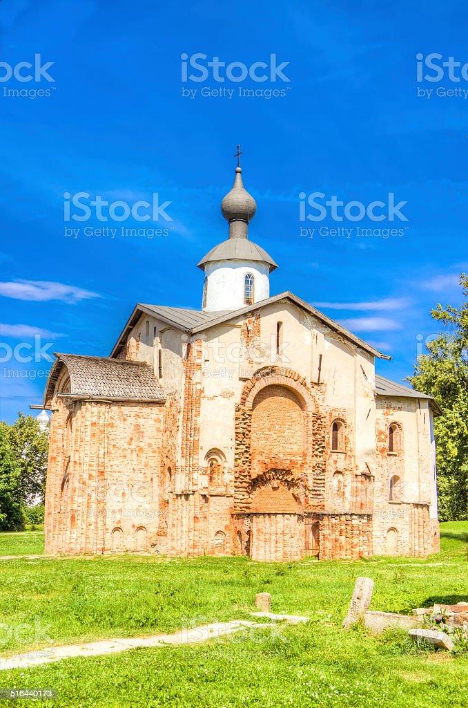 Russia Veliky Novgorod Church of St Paraskeva on Speculations stock photo