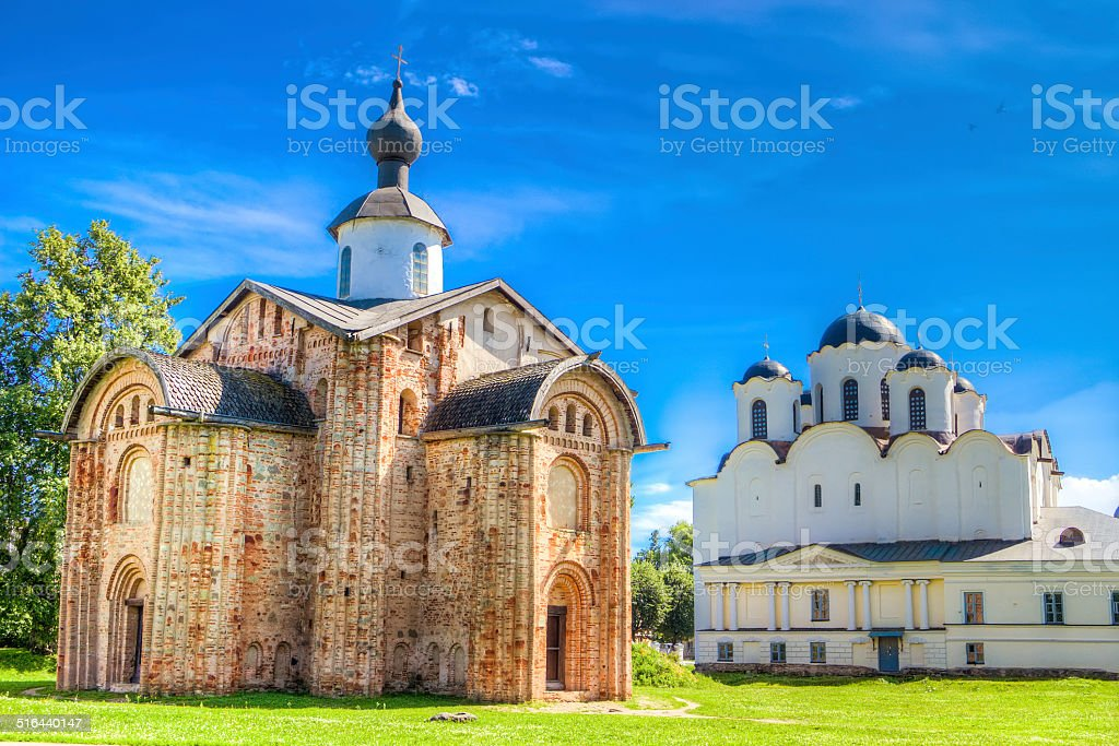 Russia Veliky Novgorod Church  St Paraskeva Speculations Dvorish stock photo