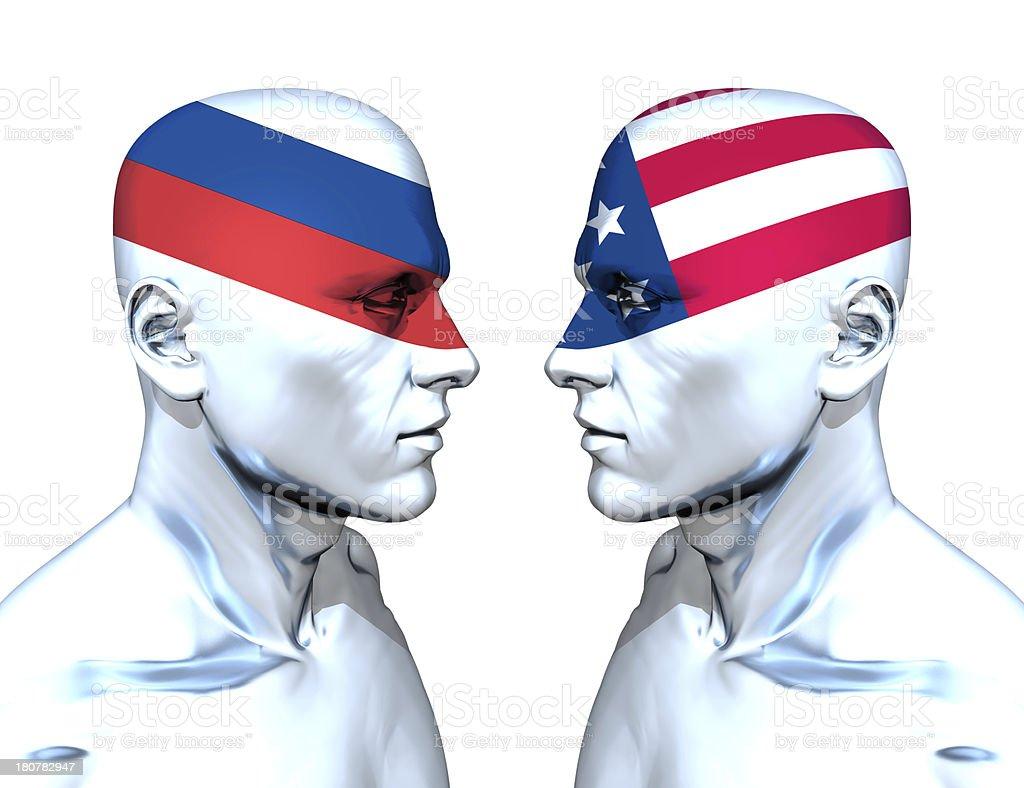 Russia vs USA stock photo