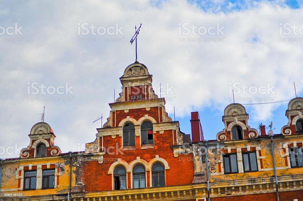 Russia, Vyborg,street. stock photo