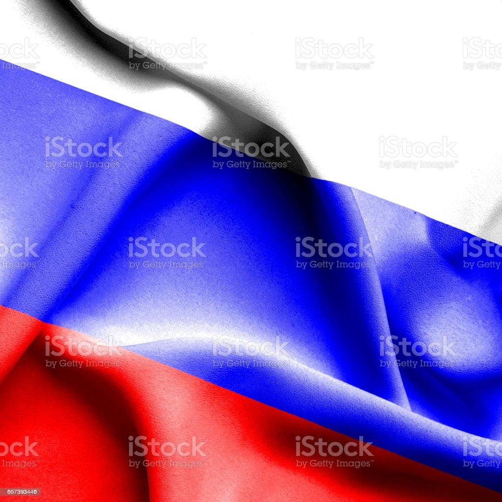 Russia waving flag stock photo