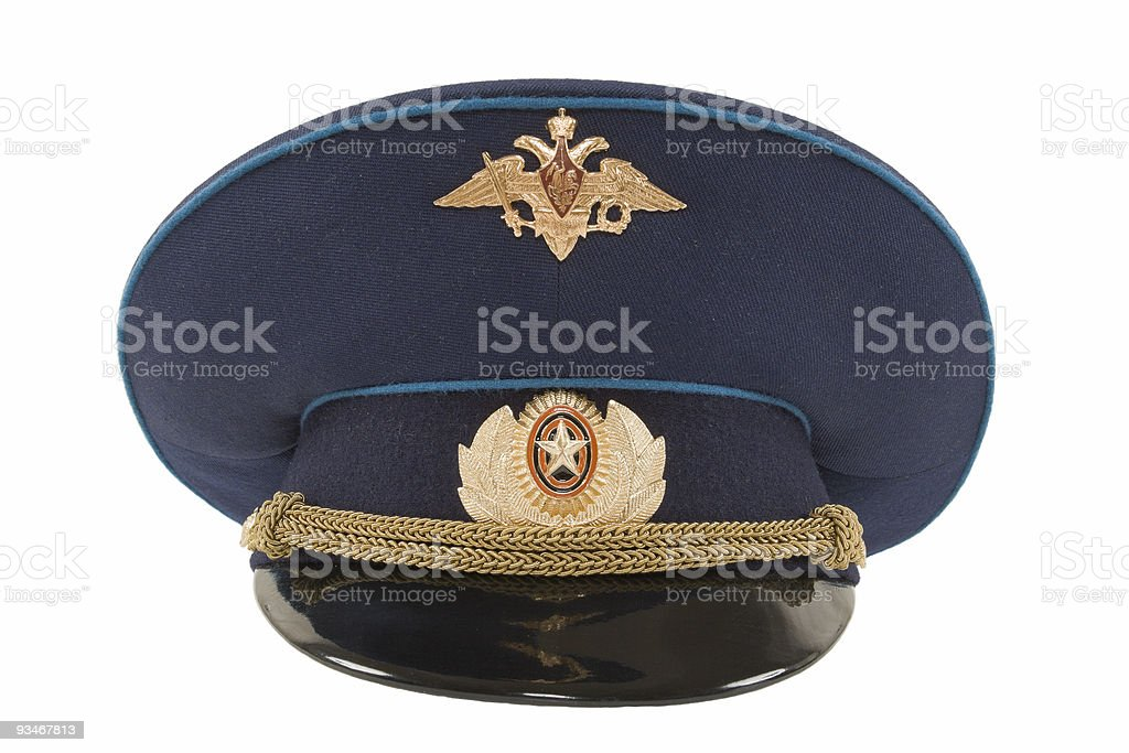 Russian Air Force Officer Cap stock photo