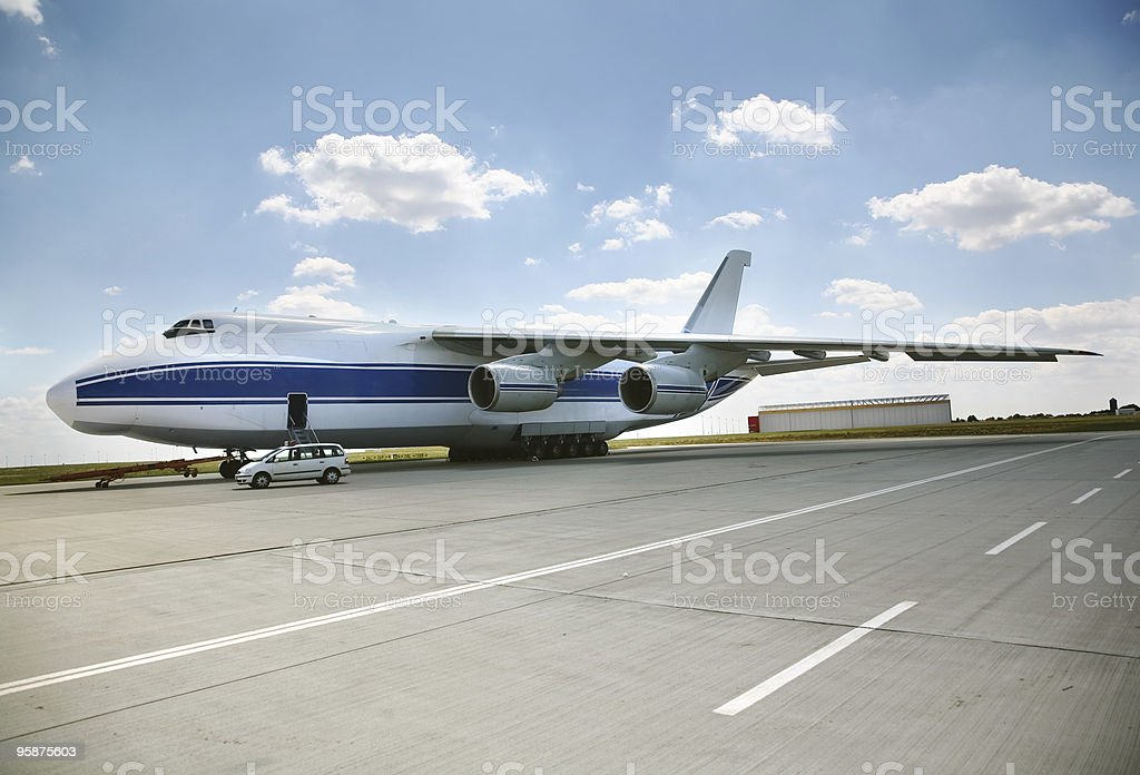 russian airfreight plane stock photo
