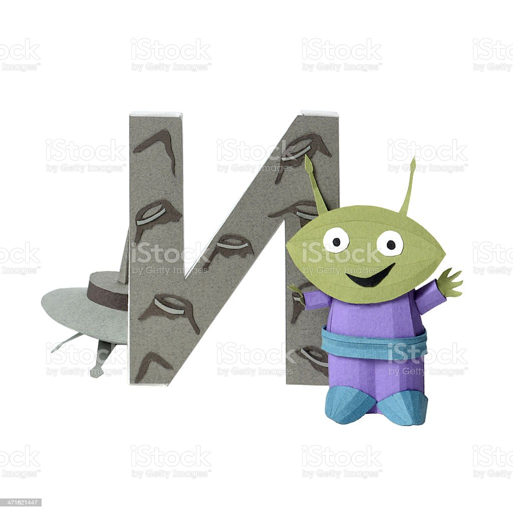 Russian alphabet letter I royalty-free stock photo