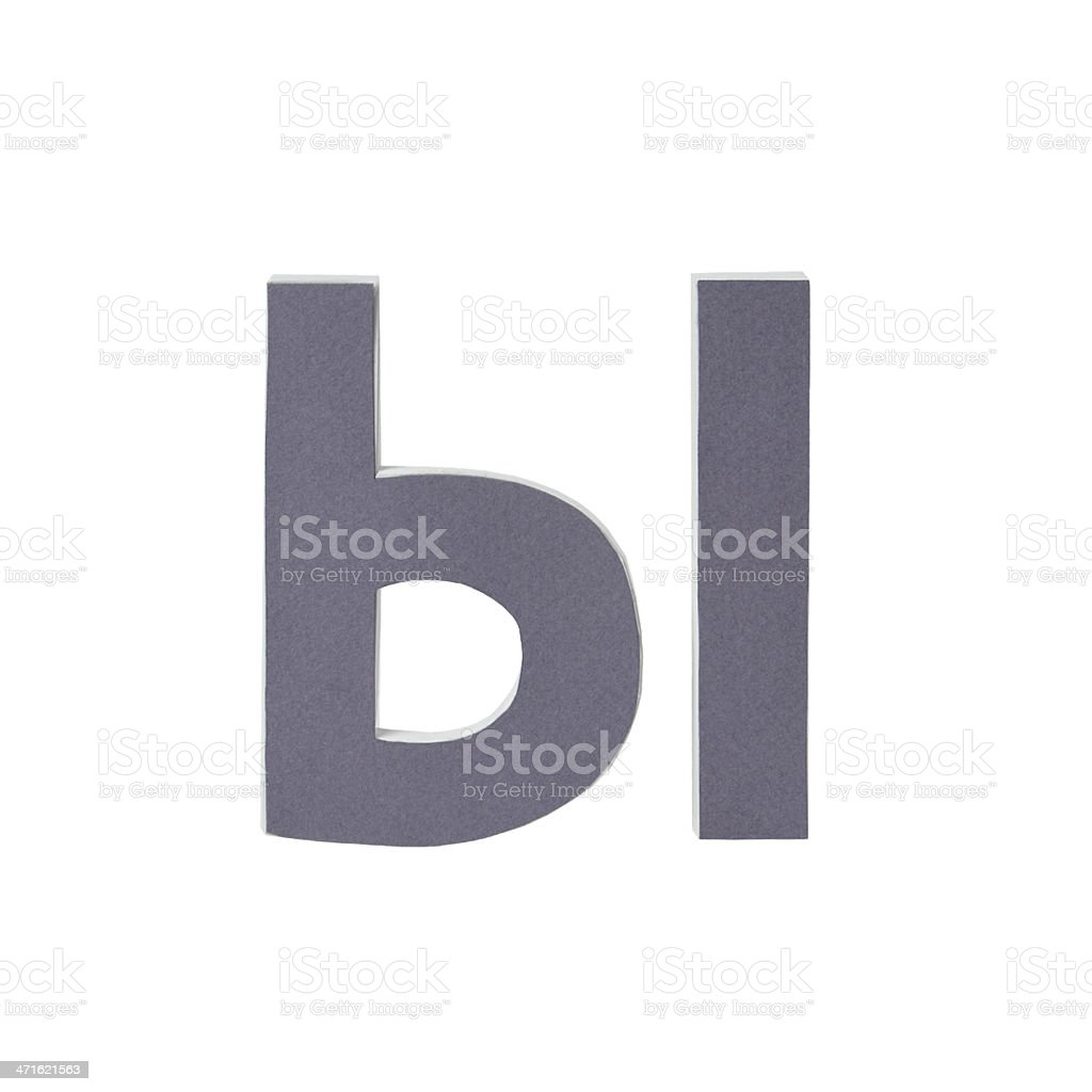 Russian alphabet letter Y royalty-free stock photo