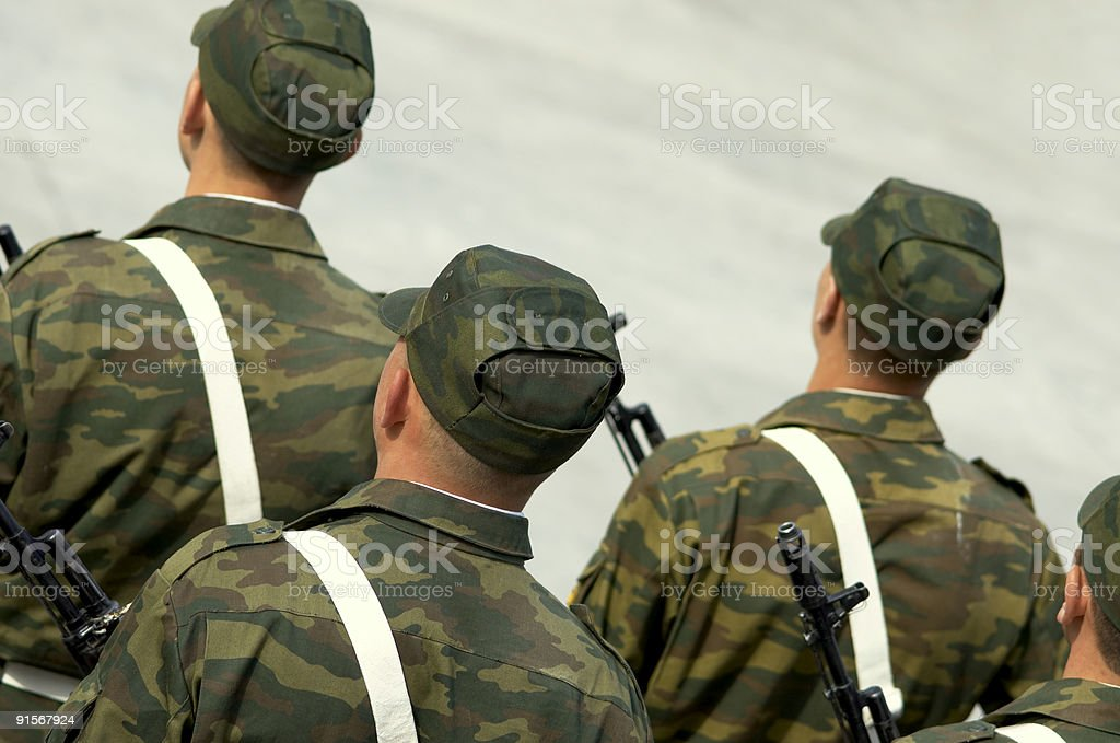 Russian army royalty-free stock photo