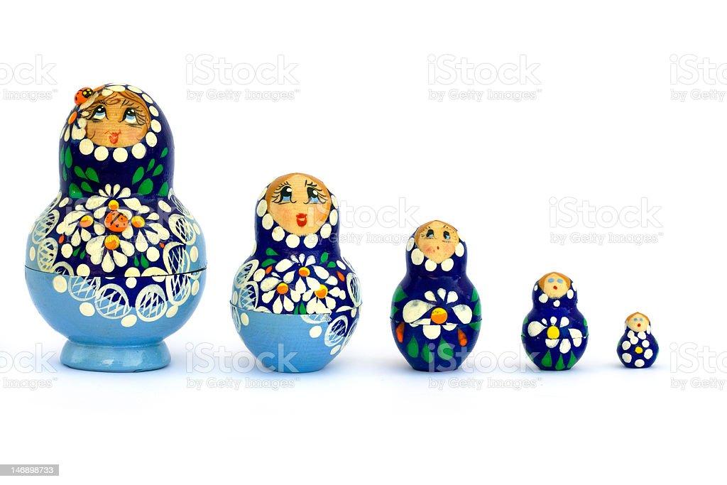 Russian Babushka Dolls royalty-free stock photo