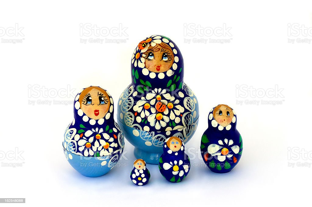 Russian Babushka Dolls royalty-free stock photo