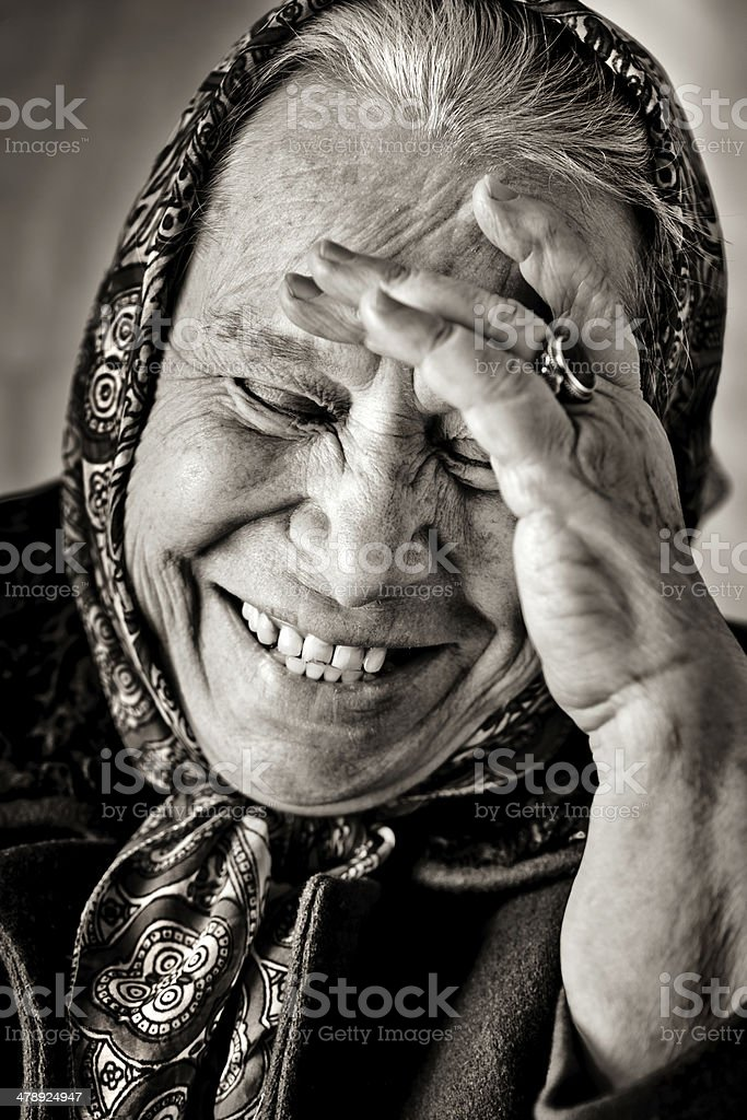 Russian babushka stock photo