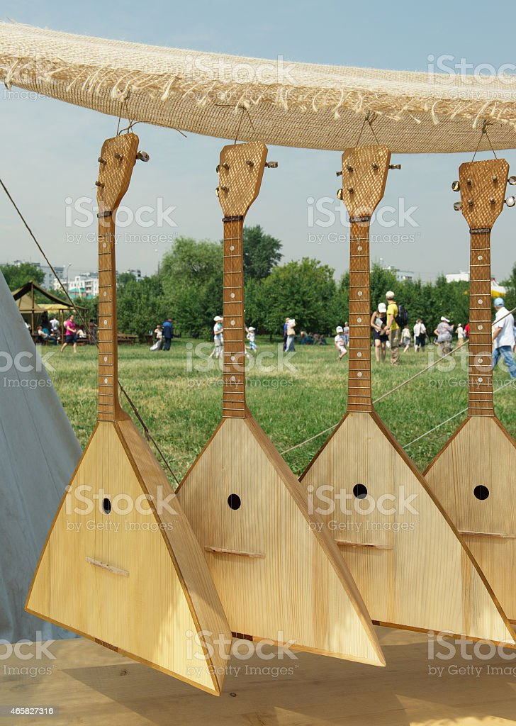 Russian balalaika stock photo