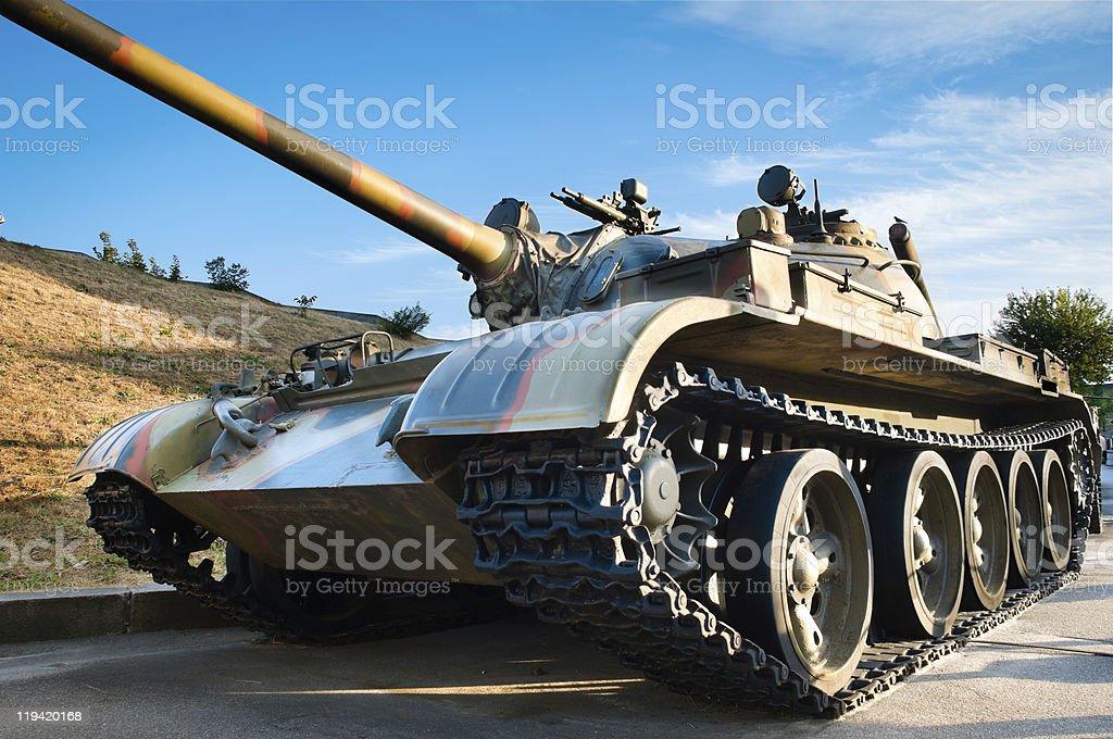 russian battle tank stock photo