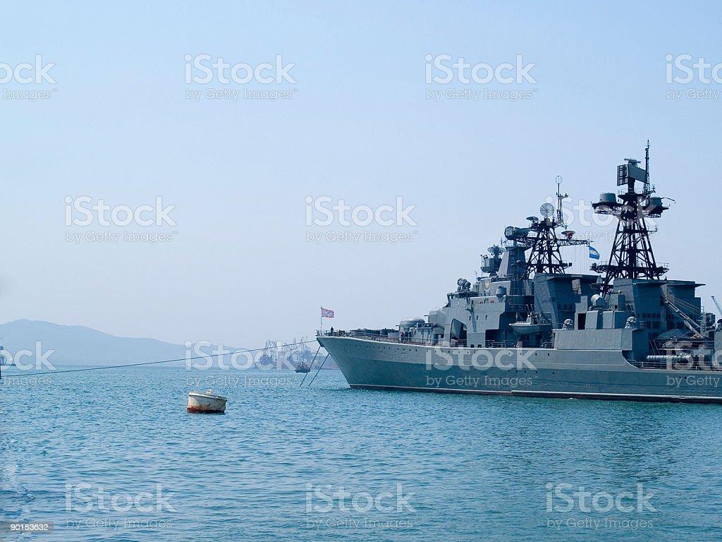 russian battleship royalty-free stock photo