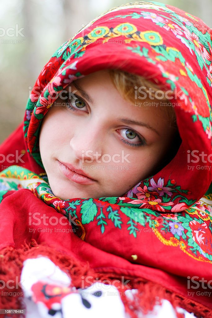 Russian beauty royalty-free stock photo