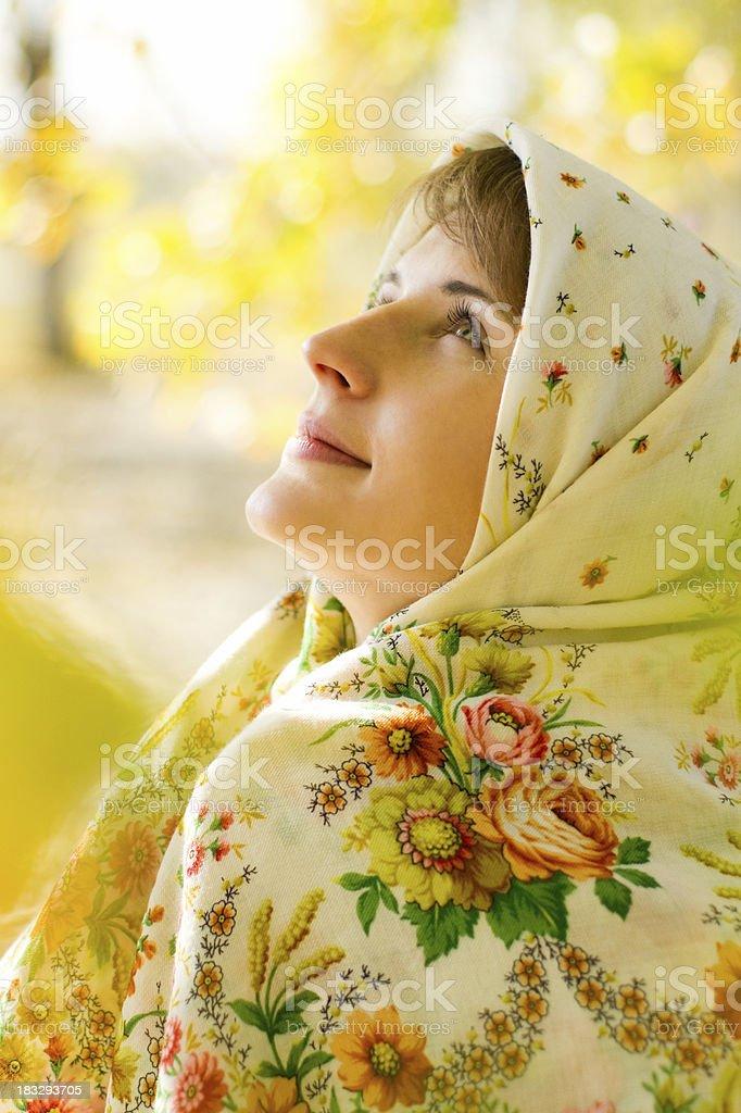 Russian beauty royalty-free stock photo