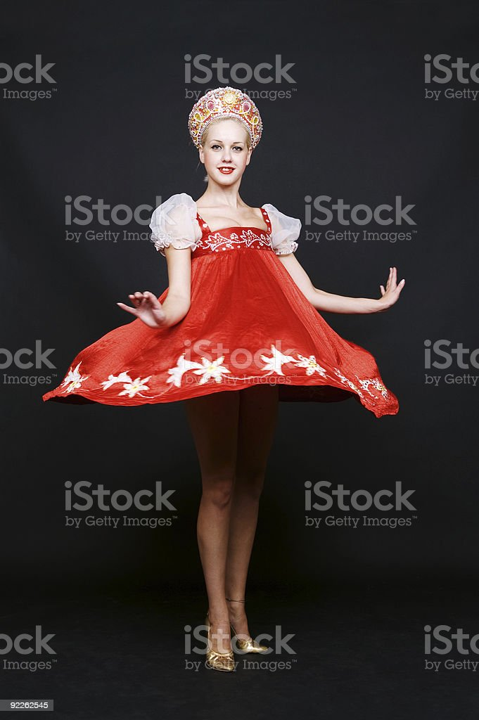 russian beauty spinning in dance royalty-free stock photo