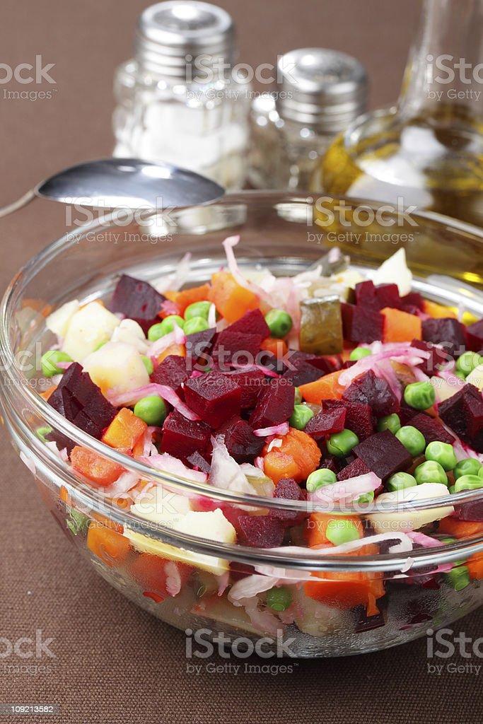 Russian beetroot salad royalty-free stock photo