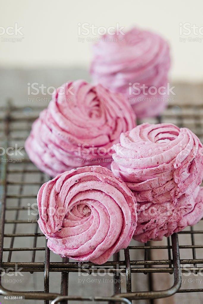Russian berry marshmallow - zephyr stock photo