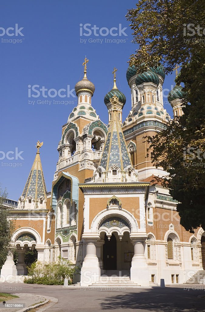 Russian Cathedral Nice royalty-free stock photo