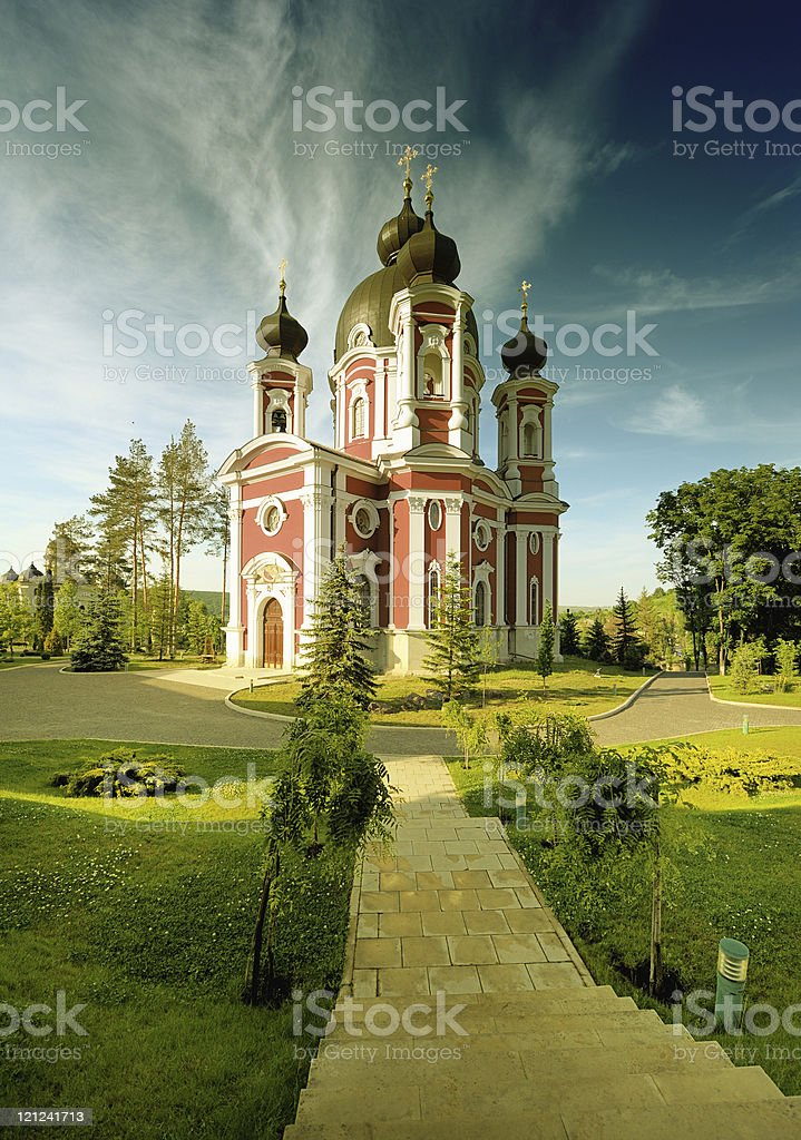 Russian cathedral royalty-free stock photo