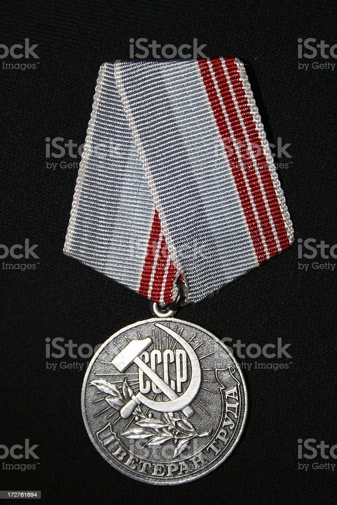 Russian CCCP Medal stock photo