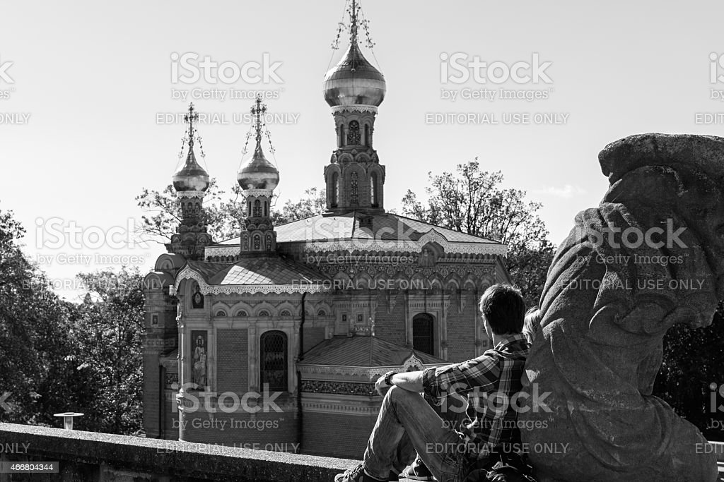 Russian Chapel, Darmstadt stock photo