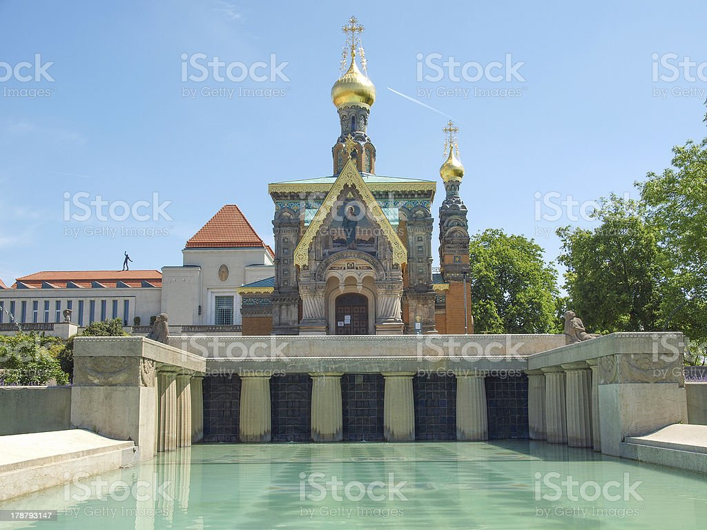 Russian Chapel in Darmstadt stock photo