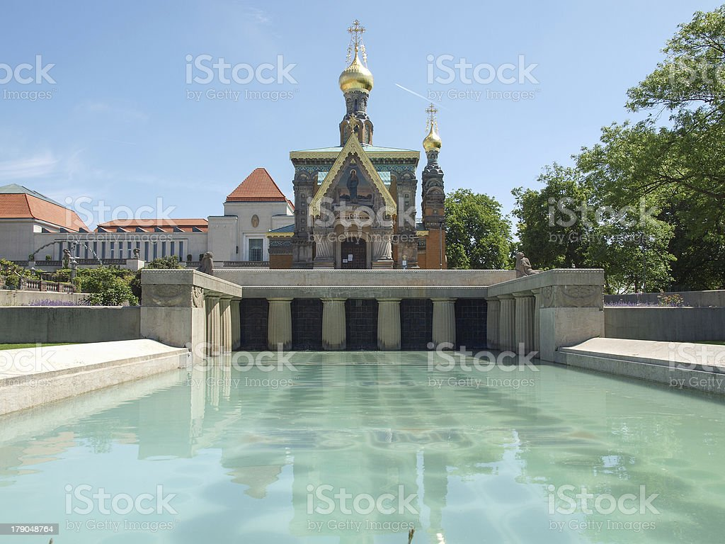 Russian Chapel in Darmstadt royalty-free stock photo
