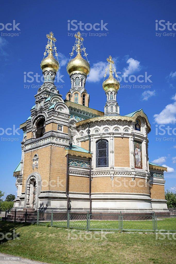 Russian chapel, Mathildenhoehe, Darmstadt royalty-free stock photo