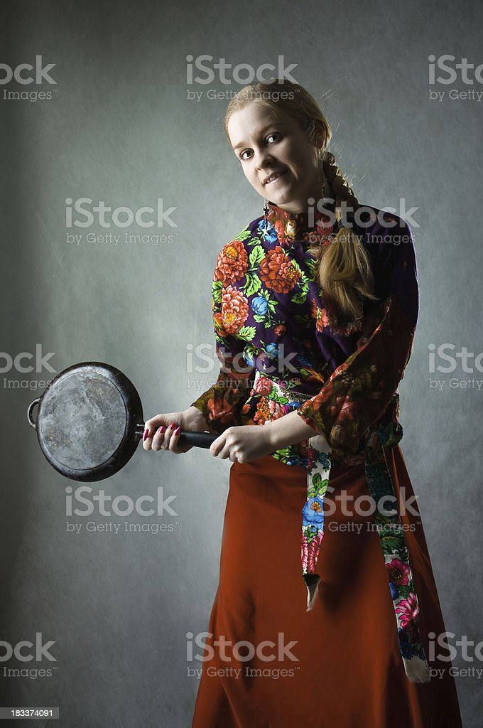 Russian chemise stock photo