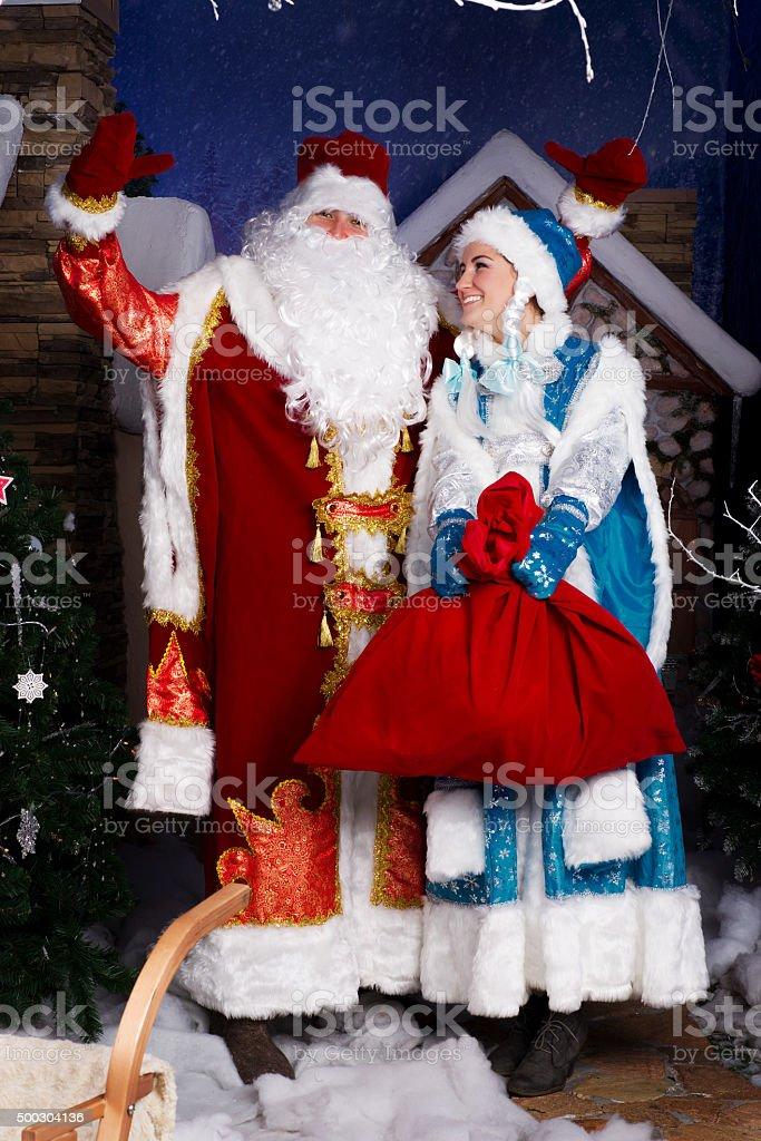 Russian Christmas characters stock photo