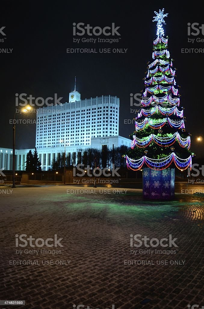 Russian Christmas  in Moscow stock photo