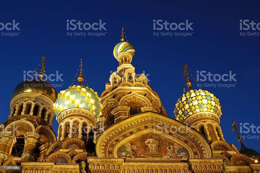 Russian Church cupola stock photo