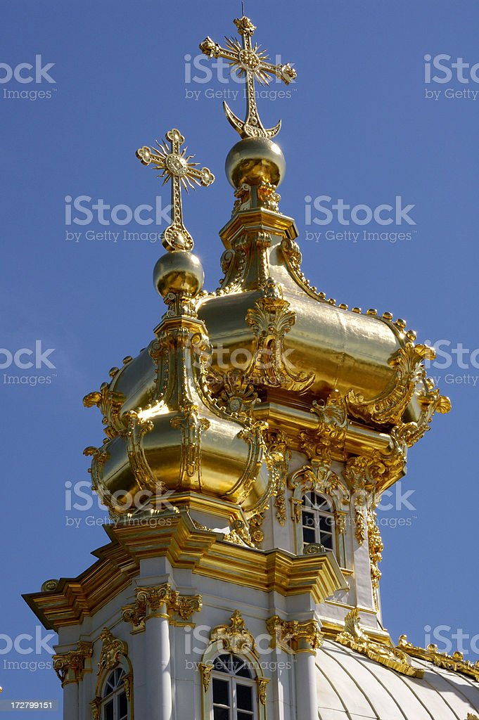 Russian church dome stock photo