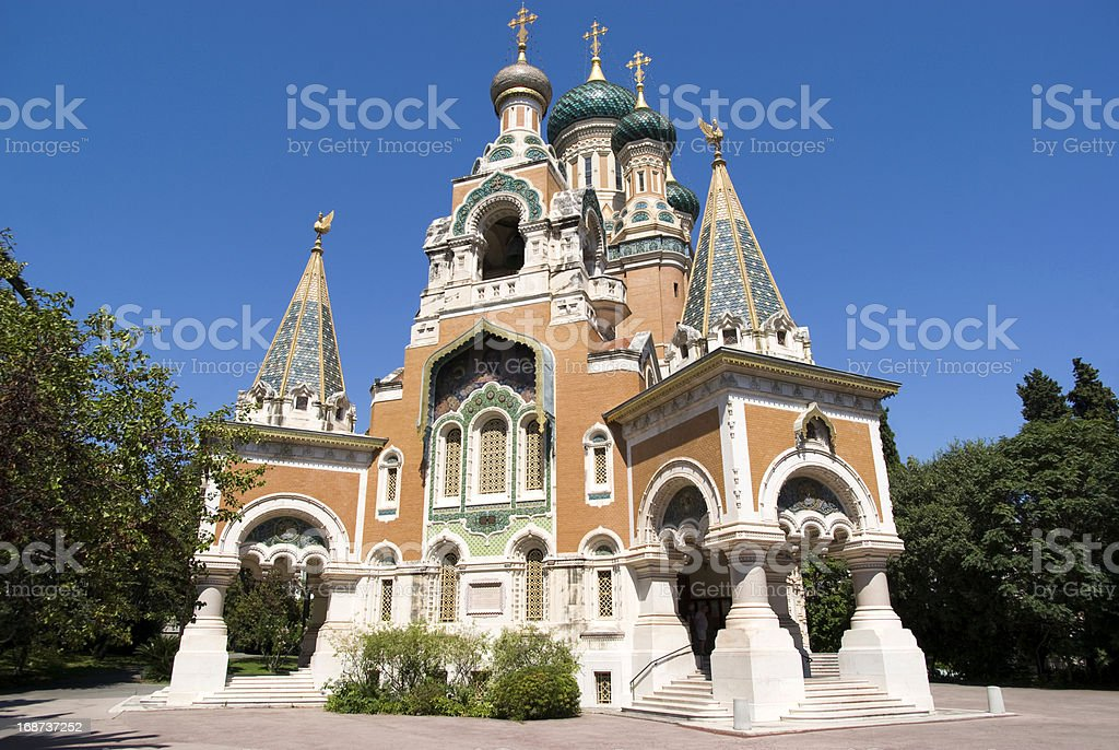 Russian Church in Nice, France royalty-free stock photo