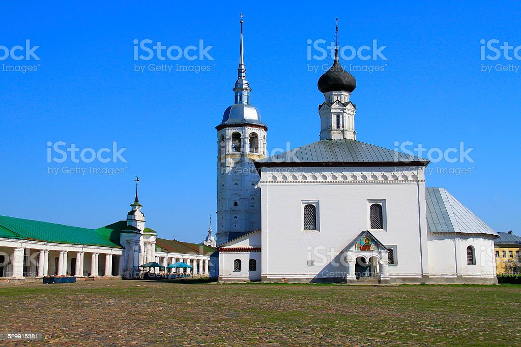 Russian church in Suzdal central square - Golden ring, Russia stock photo