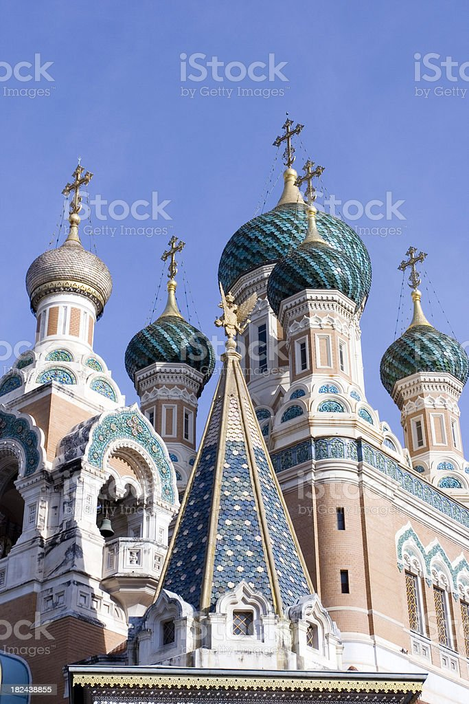 Russian church, Nice, France royalty-free stock photo