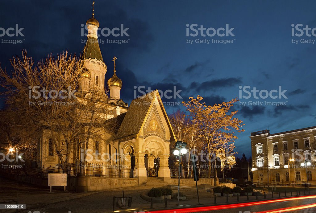 Russian Church of St Nicholas the Miracle Maker in Sofia royalty-free stock photo